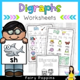 Consonant Digraphs Worksheets & Mini Book
