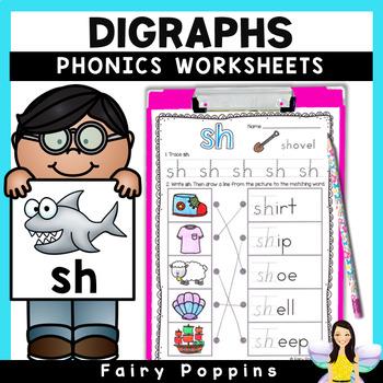 Digraphs Worksheets - Workbook and Mini Book