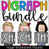 Digraph Worksheet Bundle - CH, SH, TH