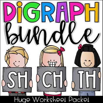 Digraph Worksheet Bundle - CH, SH, TH