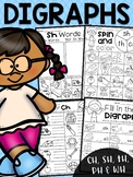Digraph Worksheet Packet - Ch, Sh, Th, Wh, Ph