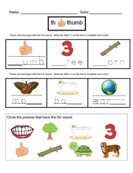 Digraph Worksheets (TH/WH)!