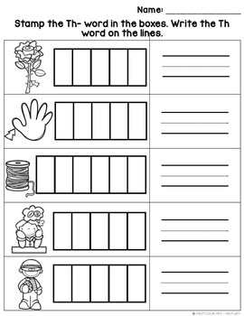 Digraph Worksheets Th