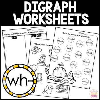 Digraph Worksheets Wh