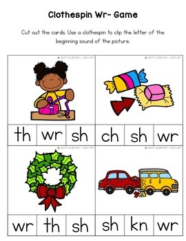 Digraph Worksheets Wr