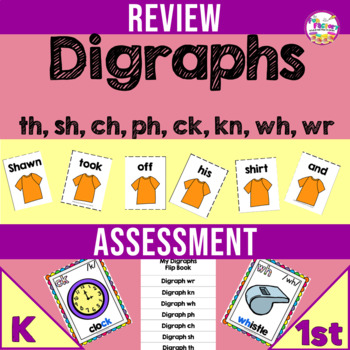 Digraph Worksheets and Centers for Digraphs Ck Th Sh Ch Kn Wh Wr Ph HALF OFF 1ST