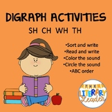 Digraph activities SH WH TH CH