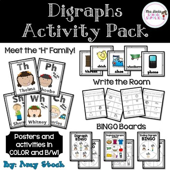 Digraph activity pack