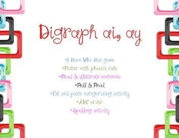 Digraph ai ay (phonics skills)