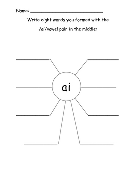 Vowel diphthong worksheets and digraph worksheets- printable ...