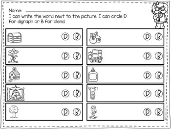 Digraphs and Blends Write the Room: Secret Agent Edition