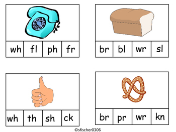 Digraph and Blends Clothes Pin Activity