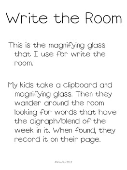 Digraph and Blends Magnifying Glass {Read the Room}
