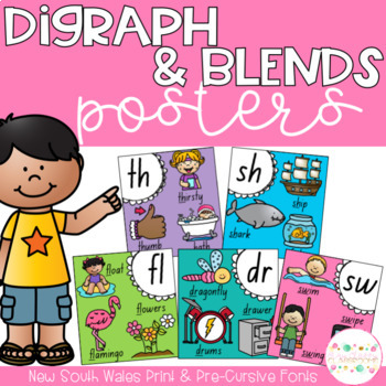 Digraph and Blends Posters - New South Wales Fonts