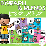 Digraph and Blends Posters - Primary Print Font