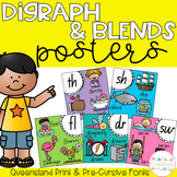 Digraph and Blends Posters - Queensland Fonts