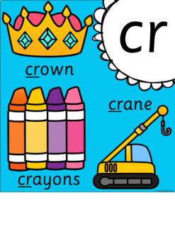 Digraph and Blends Posters - Sassoon Font