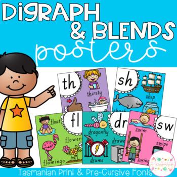 Digraph and Blends Posters - Tasmanian Fonts