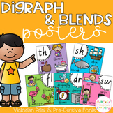 Digraph and Blends Posters - Victorian Fonts
