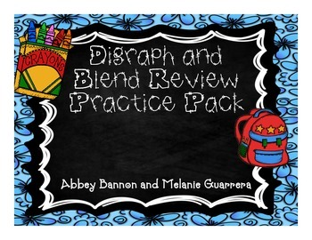 Digraph and Blends Practice Pack