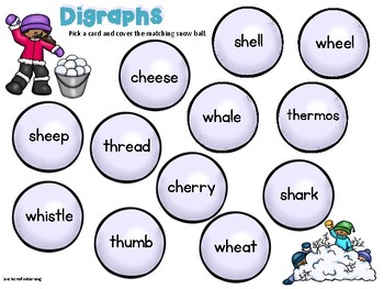 Digraph and CVCE Phonics Center Winter Addition