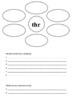 Digraph and trigraph booklet (beginning of words)