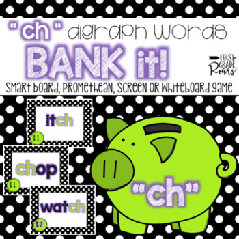 Digraph ch: Bank It! Projectable Game