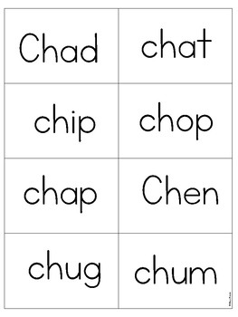 Digraph ch PHONICS BOARD Game