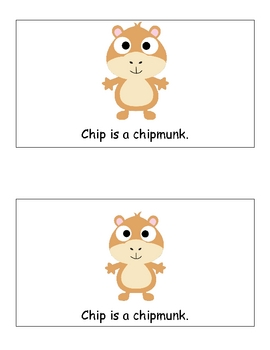 Digraph /ch/ Small Book:  Chip the Chipmunk