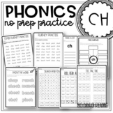 Digraph ch Worksheets