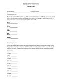 Digraph (ch, th, sh, ph, wh) informal assessment