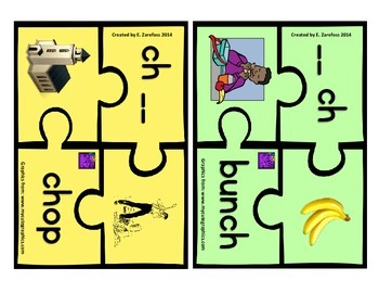 Digraph ch, & wh Puzzle