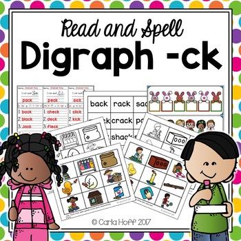 Digraph -ck - Read & Spell!