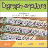 Digraph-erpillars: Vowel Digraph Word Sorts & Worksheets – Set 2: ai, ea, oa