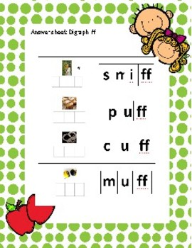 Digraph ff Write the word in sound boxes. QR coded Flipped classroom activity.