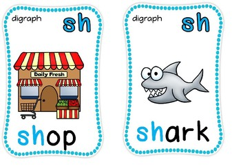 Digraph flashcards,sh,ch,th