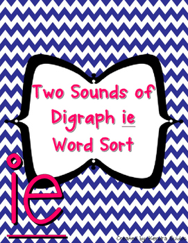 Digraph ie Word Sort