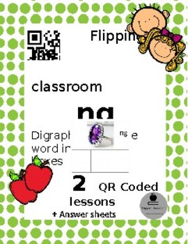 Digraph ng. Write the word in sound boxes. QR coded Flipped classroom activity.