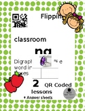 Digraph ng. Write the word in sound boxes. QR coded Flippe