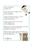 Digraph oo Word Work and Fluency Packet-Loose Tooth Blues Poem Pack