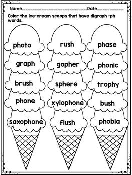 Digraph Ph Word Work No Prep By Shining And Climbing