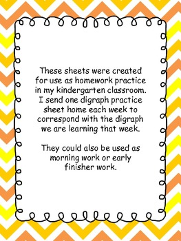 Digraph practice worksheets