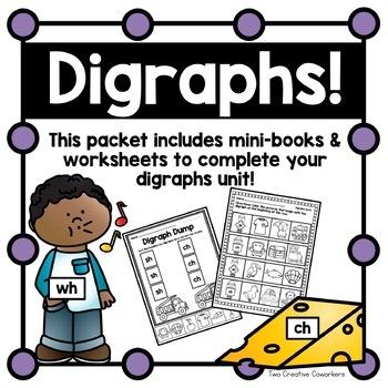 Digraphs { printable mini-books & worksheets }