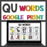 QU Activities for Google Classroom™ Digital and Print Activities