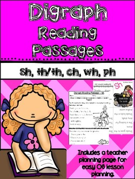 Digraph reading passages {{mini books with comprehension questions}}