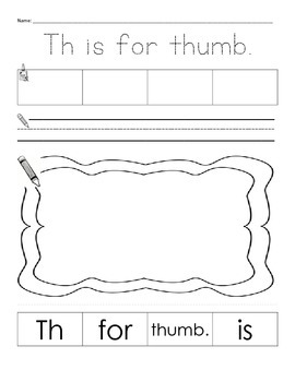 Digraph sentence building for sh, ch, th, wh
