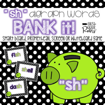Digraph sh: Bank It! Projectable Game