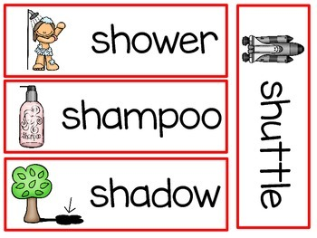 Digraph - sh - Writing Words