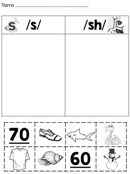 Digraph sh and th Sort