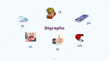 Digraph sh, ch,th,wh, ph, and ck (PowerPoint)